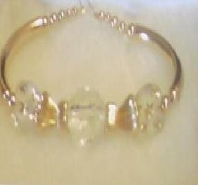 Gold Beaded 3-tier Frost Bangle
