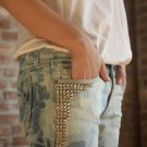Custom Made Vintage Studded Washed Jeans