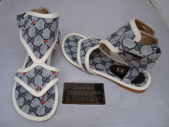 100%Gucci Gladiator Ankle Bootie Sandals - Grey/White Trim - Size 7