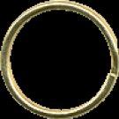 12 Gold Tone Round Key Rings (Split Rings), 1 inch