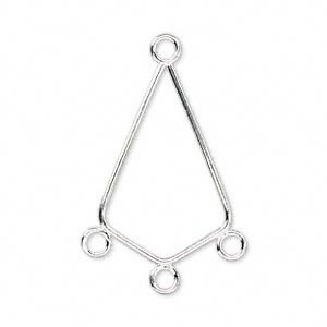 20 Silver Plated Chandelier Earring Finding, Kite.