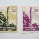 Vintage Turkish Postage Stamps 2 different color painting of the Column of Julian collectible
