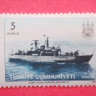 Turkish Postage Stamp with image drawing of a training ship for the Turkish Naval Academy