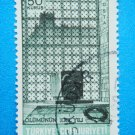 Turkish Postage Stamp printed in rememberance of 30th aniversary of Ataturk's death