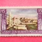 Vintage Collectable Turkish Postage Stamp depicting historic Ephesus ruins out of circulation