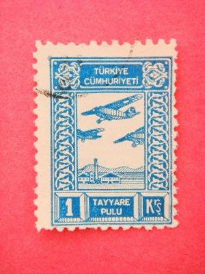 Turkish Aeronautical Association Donation Stamps vintage collectible Plane Stamp