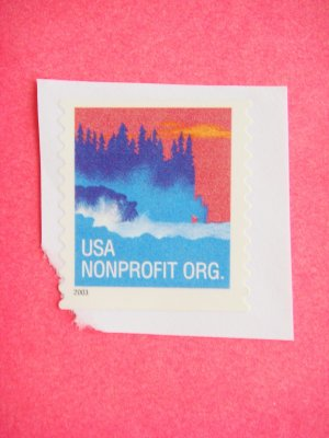 Partial Envelope with a United States Nonprofit Organization Postage Stamp on it 2003
