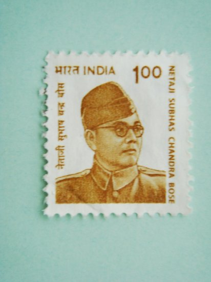 Indian Postage Stamp with Netaji Subhas Chandra Bose on it
