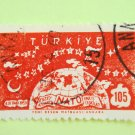 105 kurus Turkish Postage Stamp with NATO as subject