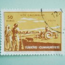Turkish Postage Stamp symbolizing developments in agriculture