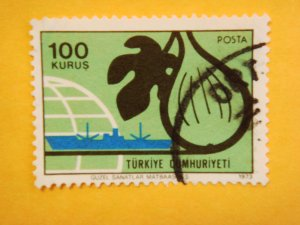 Turkish Postage Stamp about national export of agricultural goods