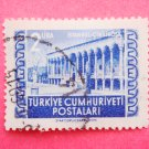 Turkish Postage Stamp depicting Cinilikosk Tiled Kiosk in Topkapi Palace in blue