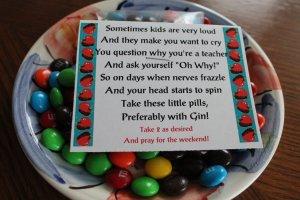 Teacher Pills Candy Topper Printable File