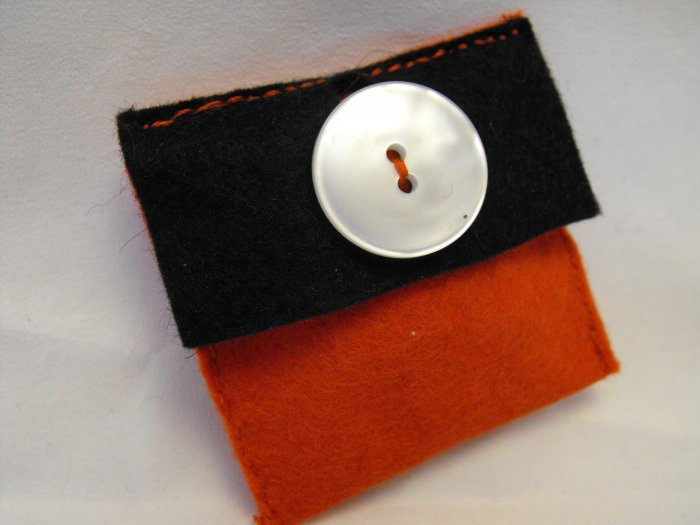 Little Red Felt Purse