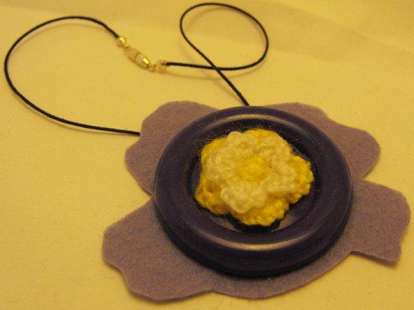 Flower Button Pendant