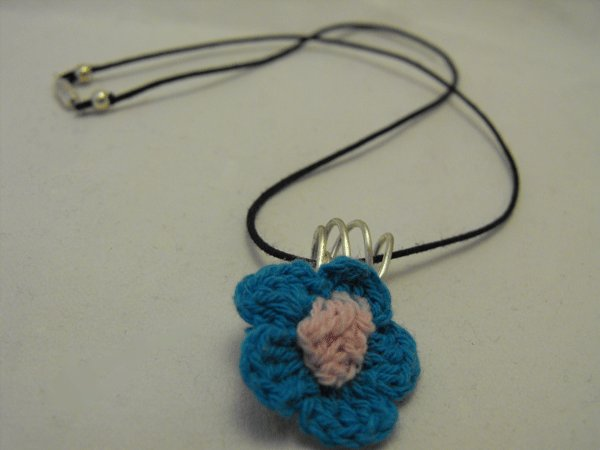 Crochet Flower Pendant