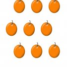 Tag Black Orange with Shadow-Digital Download-ClipArt-Art Clip-Digital Art