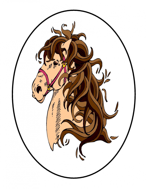 Black Circle horseLGA01ex03-Digital Download-ClipArt-ArtClip-Digital Art