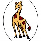 Black Circle GIRAFFE198-Digital Download-ClipArt-ArtClip-Digital Art