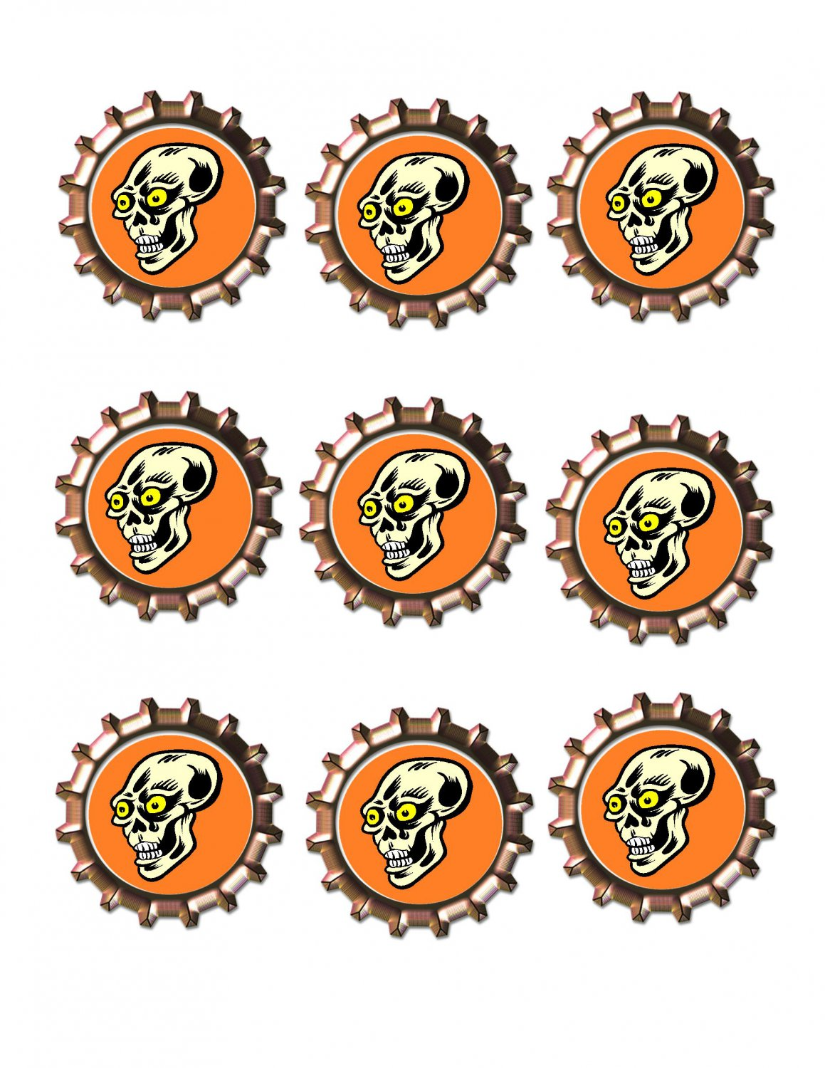 Skull2 Bottlecap -Download-ClipArt-ArtClip-Bottle Cap-Digital
