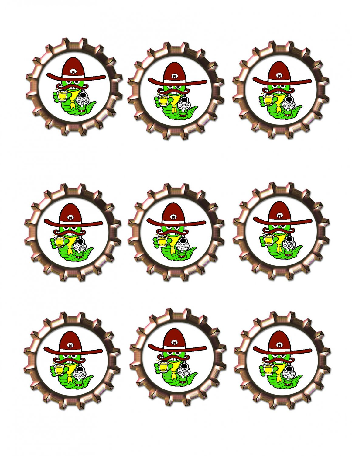 Worm Shooter Bottlecap -Download-ClipArt-ArtClip-Bottle Cap-Digital
