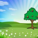 Spring Background-Digital Immediate Download-ClipArt-ArtClip-Tree