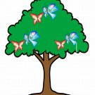Mix Trees T1-Digital Immediate Download-ClipArt-Art Clip-Background-Gift Card