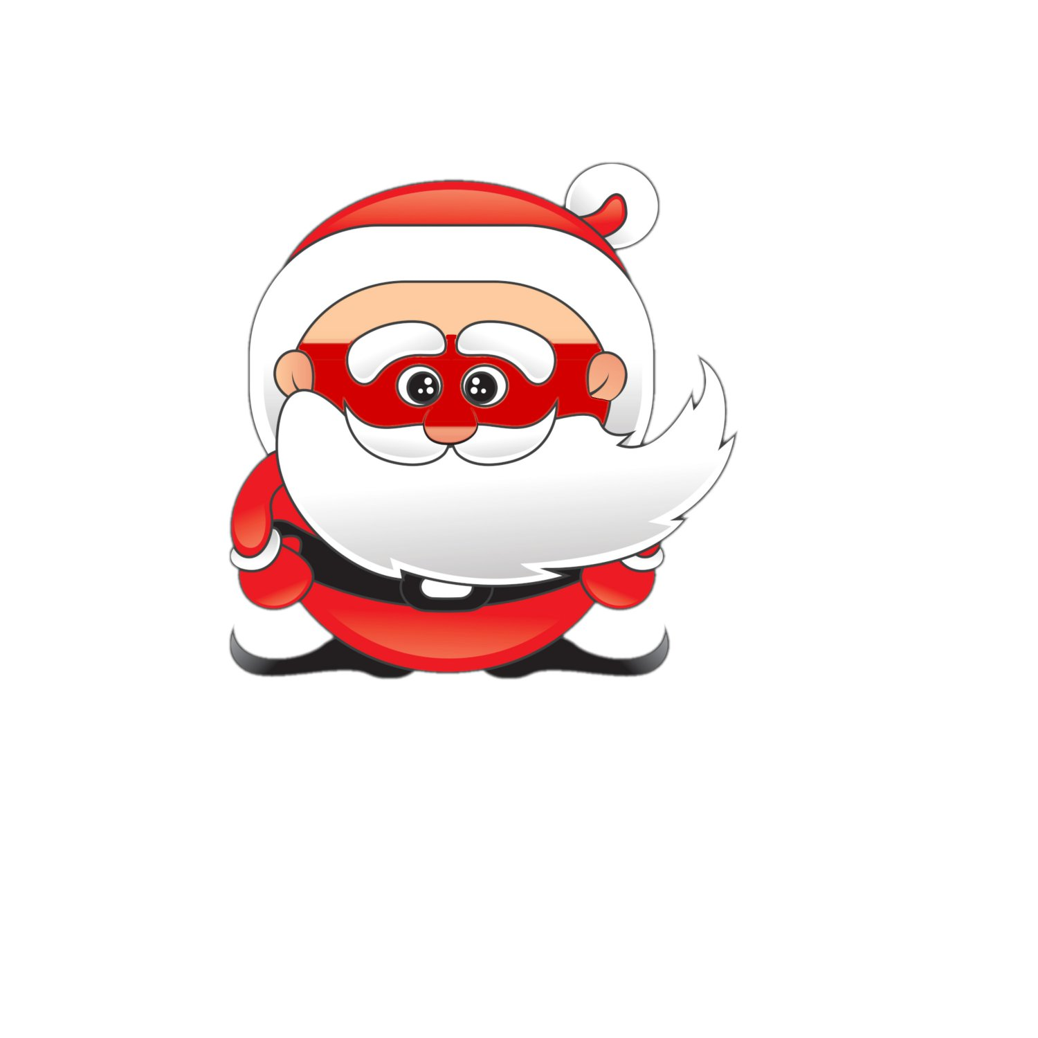 Santa Mask1-Digital Clipart-Holiday-Gift Tag-Party-Scrapbook-Jewelry-banner-T-Shirt-gift card.
