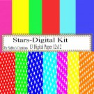 Stars Digital Kit-Digtial Paper-Art Clip-Gift Tag-4th of July-Jewelry-T shirt