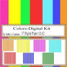 Colors Digital Kit 1-Digtial Paper-Art Clip-Gift Tag-Jewelry-Party-T shirt