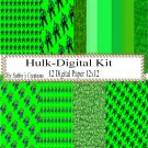 Hulk Digital Kit-Digtial Paper-Art Clip-Gift Tag-Jewelry-T shirt-Notebook