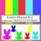 Easter Digital Kit j-Digtial Paper-Egg-Bunny-Art Clip-Gift Tag-Jewelry-T shirt