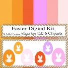 Easter Digital Kit i-Digtial Paper-Egg-Bunny-Art Clip-Gift Tag-Jewelry-T shirt