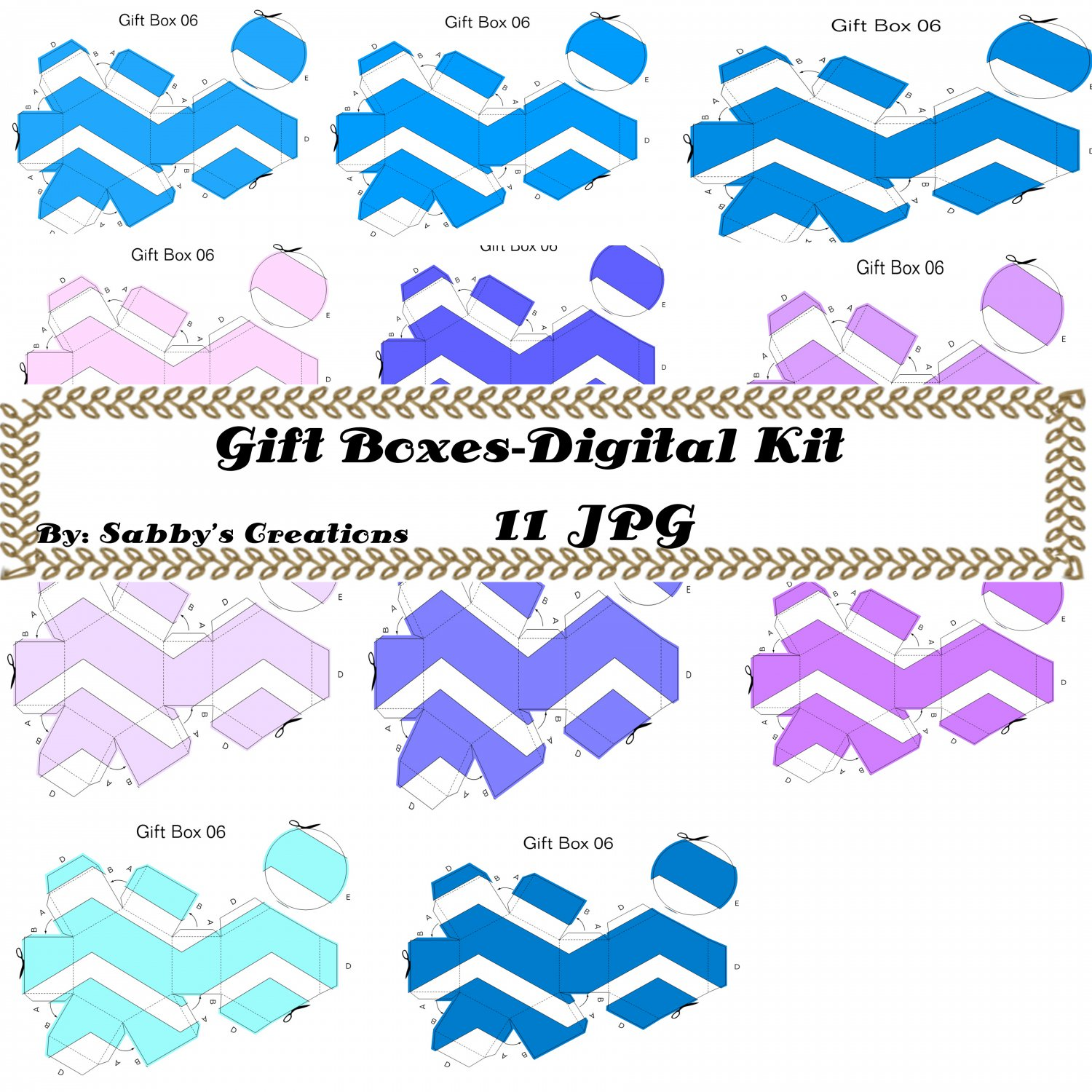 Gift Boxes47-Digtial Paper-Art Clip-Gift Tag-Jewelry-Candy Box