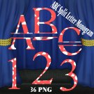 ABC Split Letter Monogram 1a Digital Kit