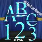 ABC Split Letter Monogram 2b Digital Kit