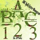 ABC Split Letter Monogram 4d Digital Kit