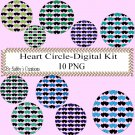 Hearts Circle aa Digital Kit-Jewelry Tag-Clipart-Art Clip-Gift Tag