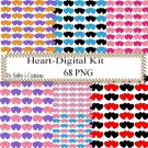 Color Hearts 77 Digital Kit-Jewelry Tag-Clipart-Art Clip-Gift Tag