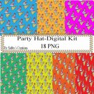 Party Hat 1a Digital Kit-Jewelry Tag-Clipart-Art Clip-Gift Tag