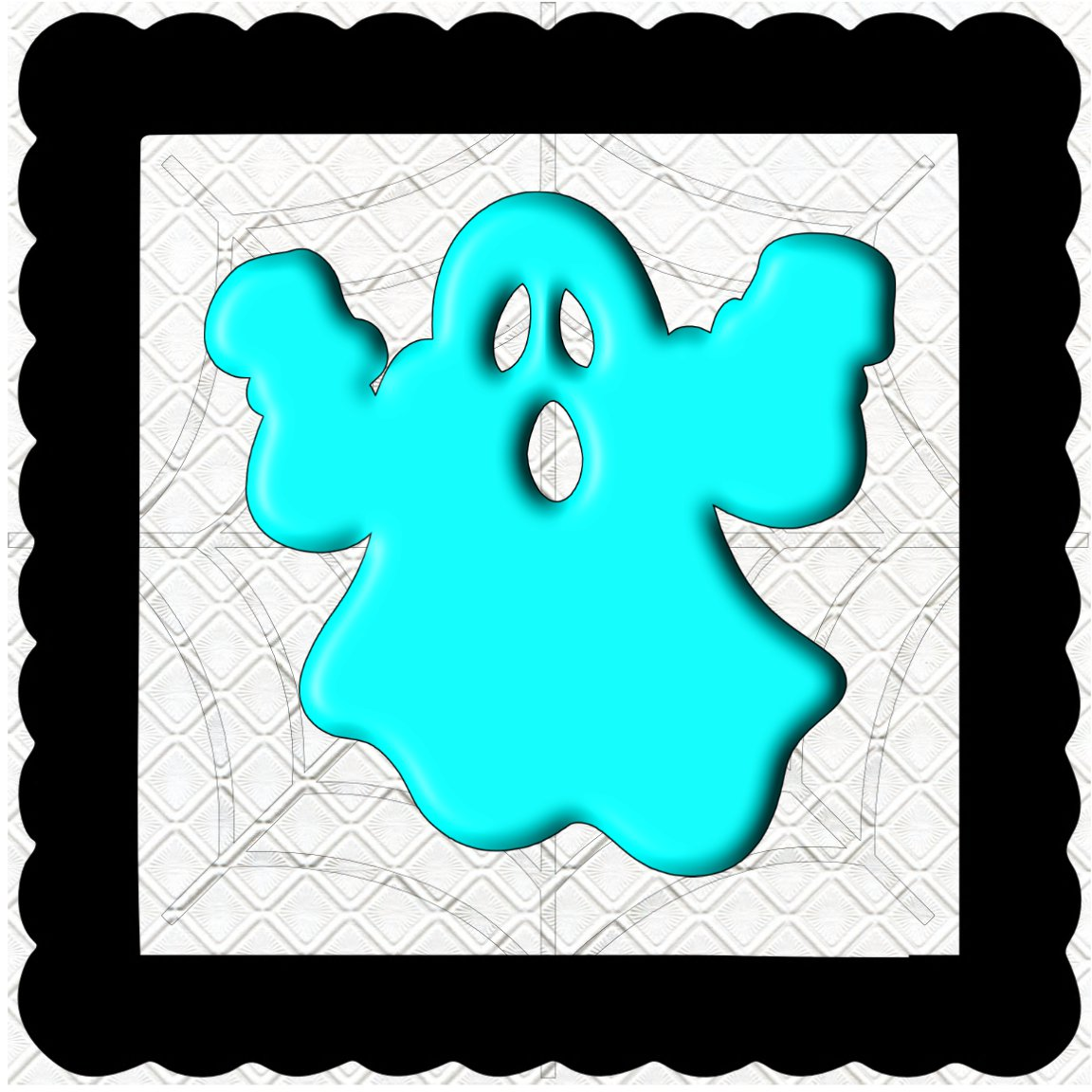 3D Color Ghost 3-Digital Kit-Jewelry Tag-Clipart-Halloween-Digital Clipart-Halloween-Scrapbook.
