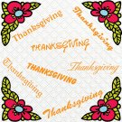 Thanksgiving Words-Digital ClipArt-PNG-Art Clip-Gift Tag-Notebook-Scrapbook