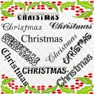 Christmas Words-Digital ClipArt-PNG-Art Clip-Gift Tag-Notebook-T Shirt-Party-Scrapbook