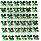 Mouse ABC 1a-St. Patrick's-Digital ClipArt-Art Clip-Gift Tag-Notebook-Scrapbook-banner