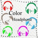 Color 3D Headphone-Digital ClipArt-Art Clip-Gift Tag-Notebook-Scrapbook-banner-background-gift card.