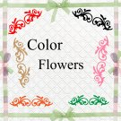 Color Flowers1aa-Digital ClipArt-Art Clip-Gift Tag-Notebook-Scrapbook-gift card.