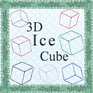 Color 3D Ice Cubes-Digital ClipArt-Gift Tag-Tshirt--Scrapbook-Banner-Background-Gift Card.