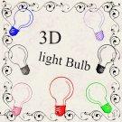 3D light Bulbs-Digital ClipArt-Notebook-Tshirt-Scrapbook-banner-background-gift card.