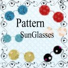 Pattern SunGlasses-Digital ClipArt-Art Clip-Gift Tag-Flowers-Scrapbook-Banner-Background-Gift Card.