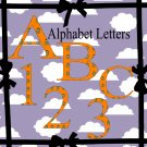 ABC and 123 Garfield-Digital Clipart-Gift Tag-Tshirt-Banner-Background-Gift Card.